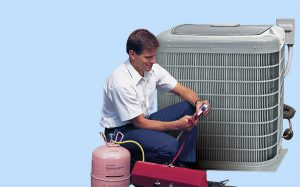 Fairhope, AL HVAC installer servicing heat pump