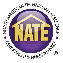 NATE-certified technicians badge | Fairhope, AL HVAC repair