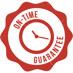 Fairhope, AL HVAC repair on-time guarantee badge - orange